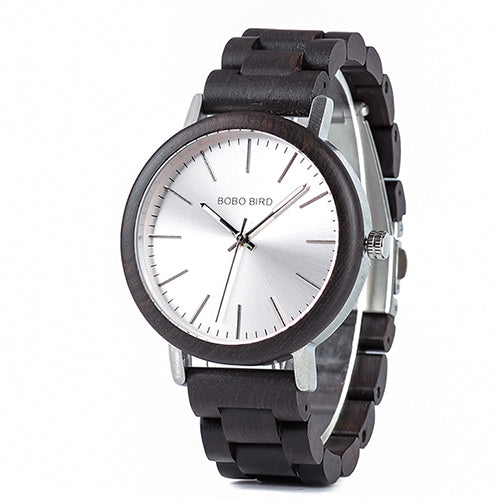 Men & Women Wooden Watch - Luxury Dark wood