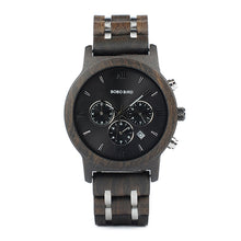 Load image into Gallery viewer, Mens Wooden Watch - Chronograph Ebony