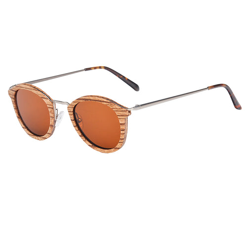 Metal & Wooden Polarized Sunglasses