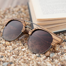 Load image into Gallery viewer, Clubmaster Wooden Sunglasses
