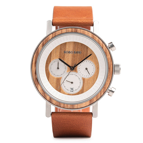 Men & Women Wooden Watch - Chronograph on Teakwood