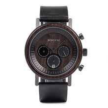 Load image into Gallery viewer, Men & Women Wooden Watch - Chronograph on Ebony
