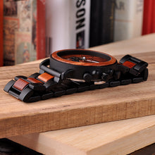 Load image into Gallery viewer, Wooden Watch - Chronograph Ebony & Redwood