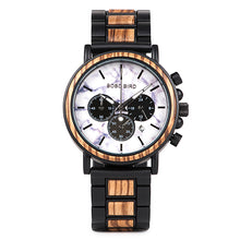 Load image into Gallery viewer, Mens Wooden Watch-  Chronograph Military Teakwood