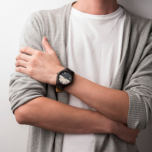 Mens Wooden Watch - Fashion Denim