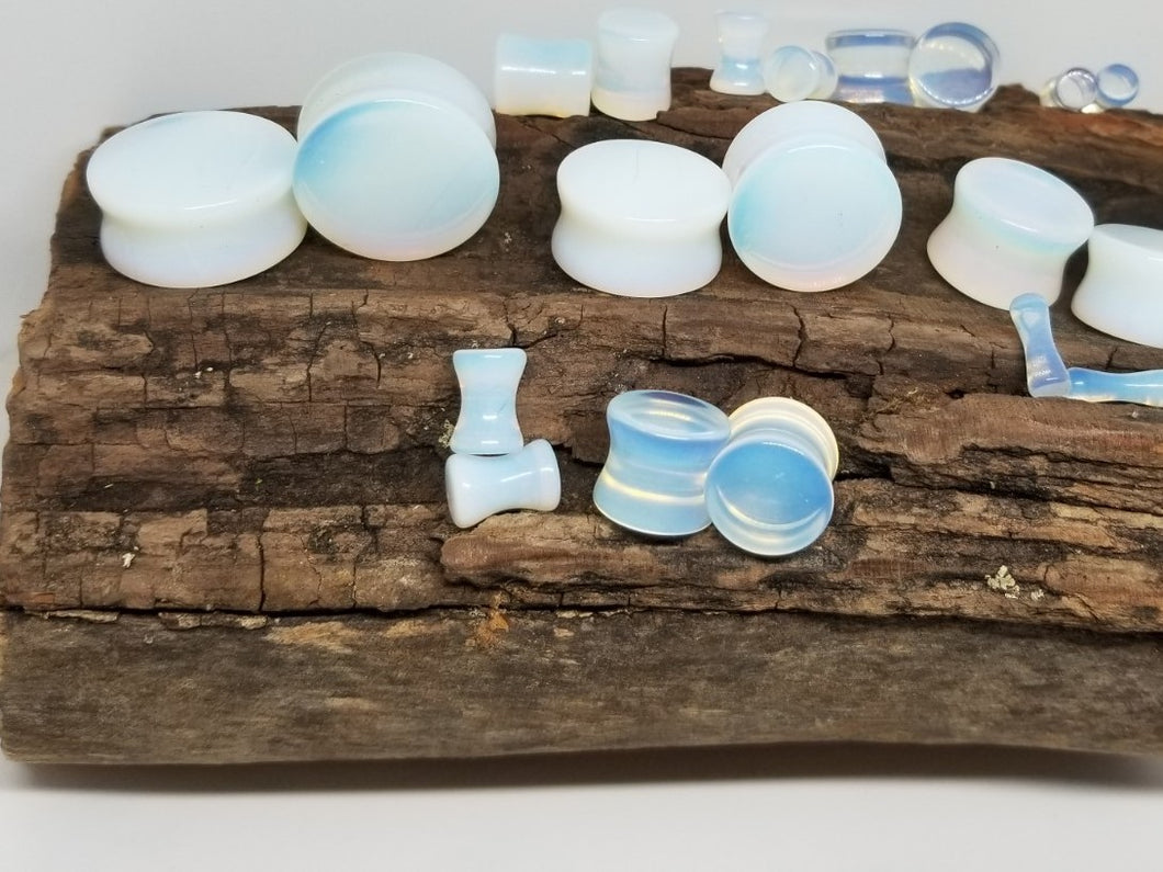 Opalite Double Flared Plugs
