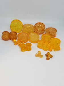 Amber Double Flared Plugs