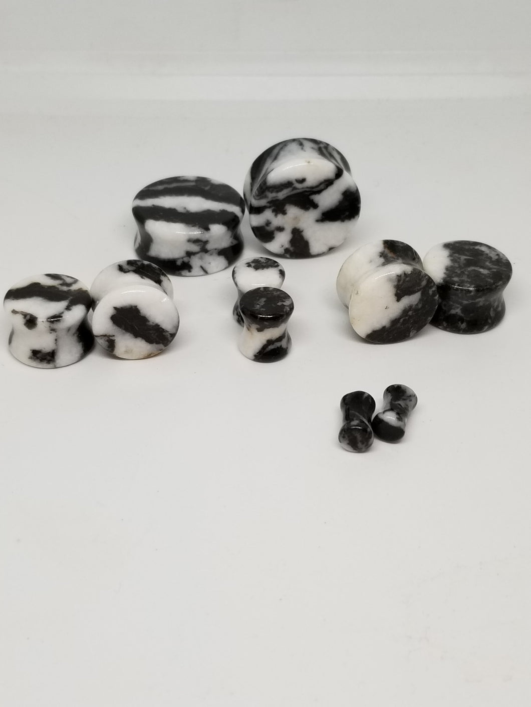 Zebra Stone Double Flared Plugs