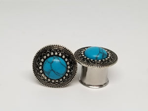 Steel Tunnels with Turquoise Insert