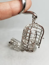 Silver Bird Cage Ear Weights