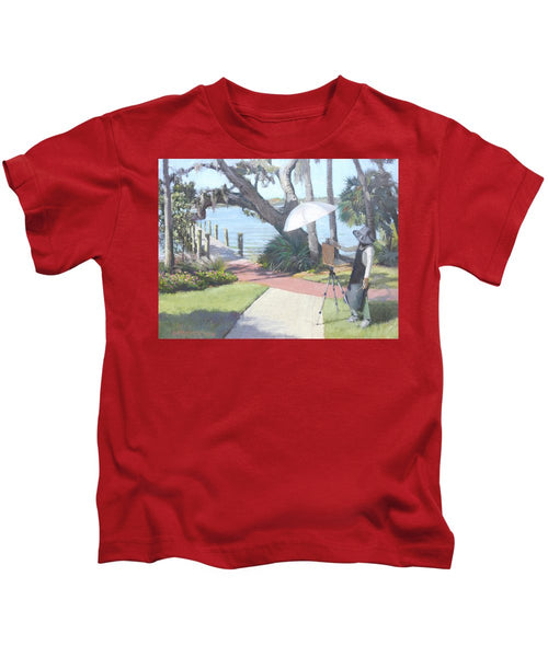 Bay Preserve Plein Air Painter - Kids T-Shirt