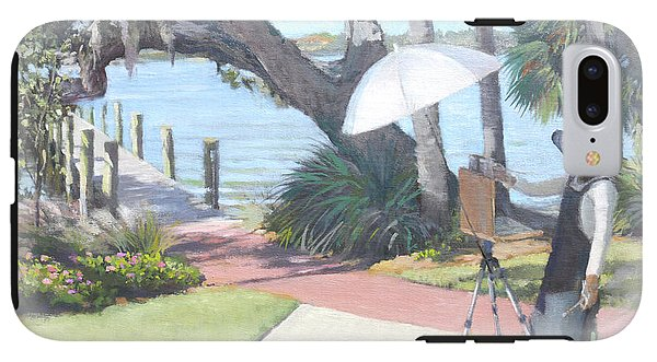 Bay Preserve Plein Air Painter - Phone Case