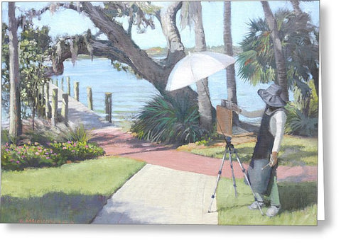 Bay Preserve Plein Air Painter - Greeting Card
