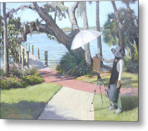 Bay Preserve Plein Air Painter - Metal Print