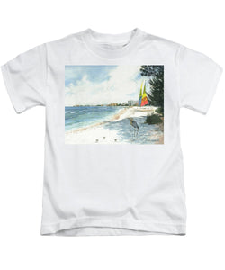 Blue Heron And Hobie Cats, Crescent Beach, Siesta Key - Kids T-Shirt