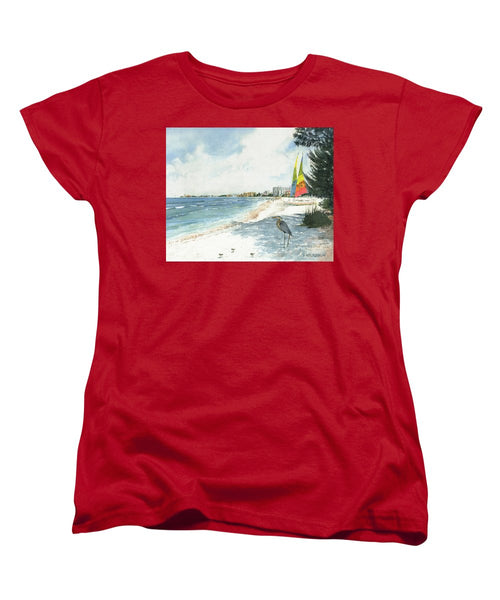 Blue Heron And Hobie Cats, Crescent Beach, Siesta Key - Women's T-Shirt (Standard Fit)
