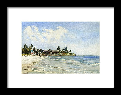 Hobie Cat At Point Of Rocks, Siesta Key - Framed Print