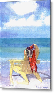 Beach Chair - Metal Print