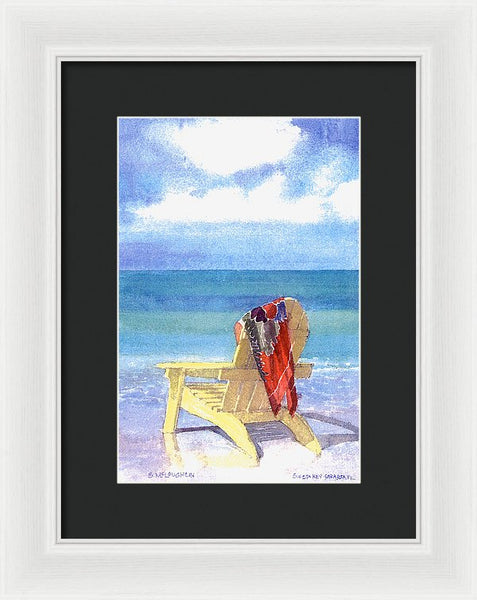 Beach Chair - Framed Print