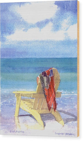 Beach Chair - Wood Print