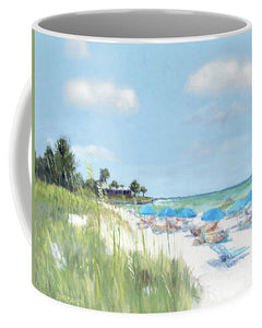 Blue Beach Umbrellas, Point Of Rocks, Crescent Beach, Siesta Key - Mug