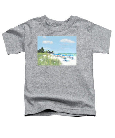 Blue Beach Umbrellas, Point Of Rocks, Crescent Beach, Siesta Key - Toddler T-Shirt