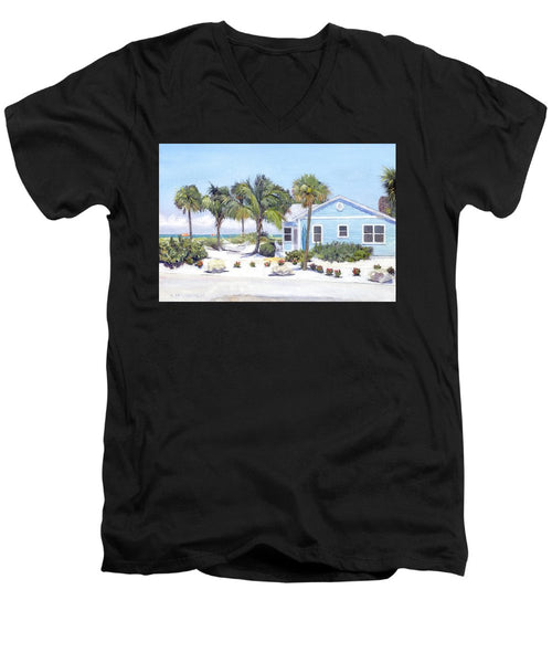 Blue Cottage On Siesta Key Beach, Access 3 - Men's V-Neck T-Shirt