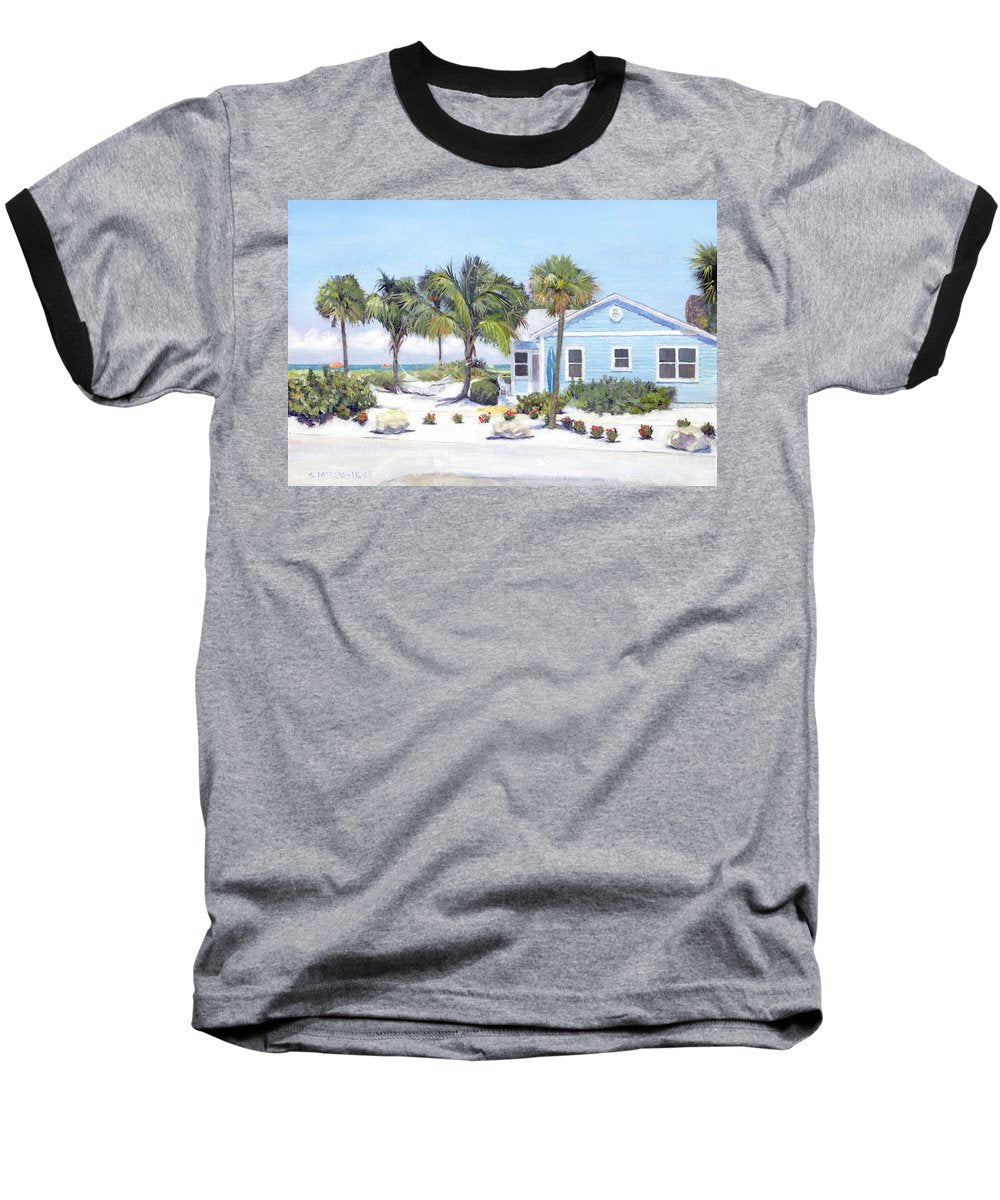 Blue Cottage On Siesta Key Beach, Access 3 - Baseball T-Shirt