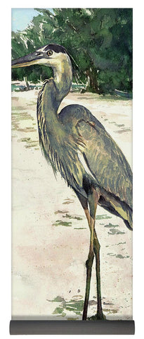 Blue Heron On Shell Beach, Siesta Key - Yoga Mat