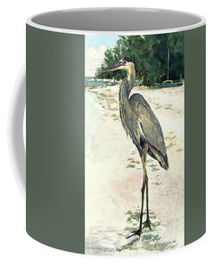 Blue Heron On Shell Beach, Siesta Key - Mug