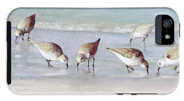 Breakfast On The Beach, Snowy Plover Sandpipers, Siesta Key, Wide-narrow - Phone Case