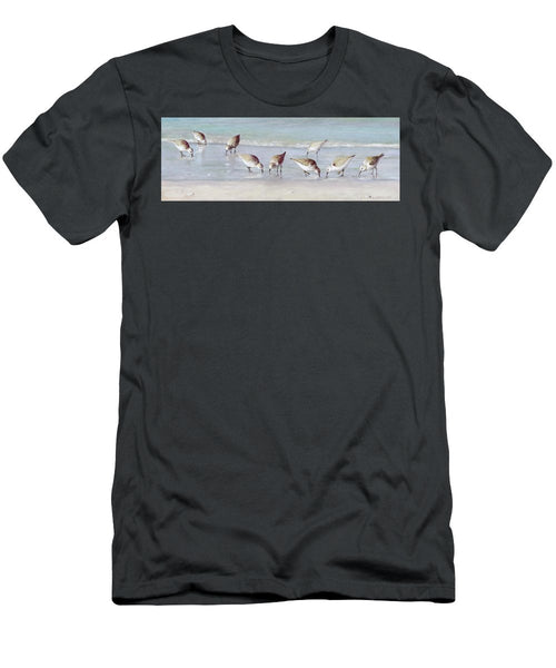 Breakfast On The Beach, Snowy Plover Sandpipers, Siesta Key, Wide-narrow - Men's T-Shirt (Athletic Fit)