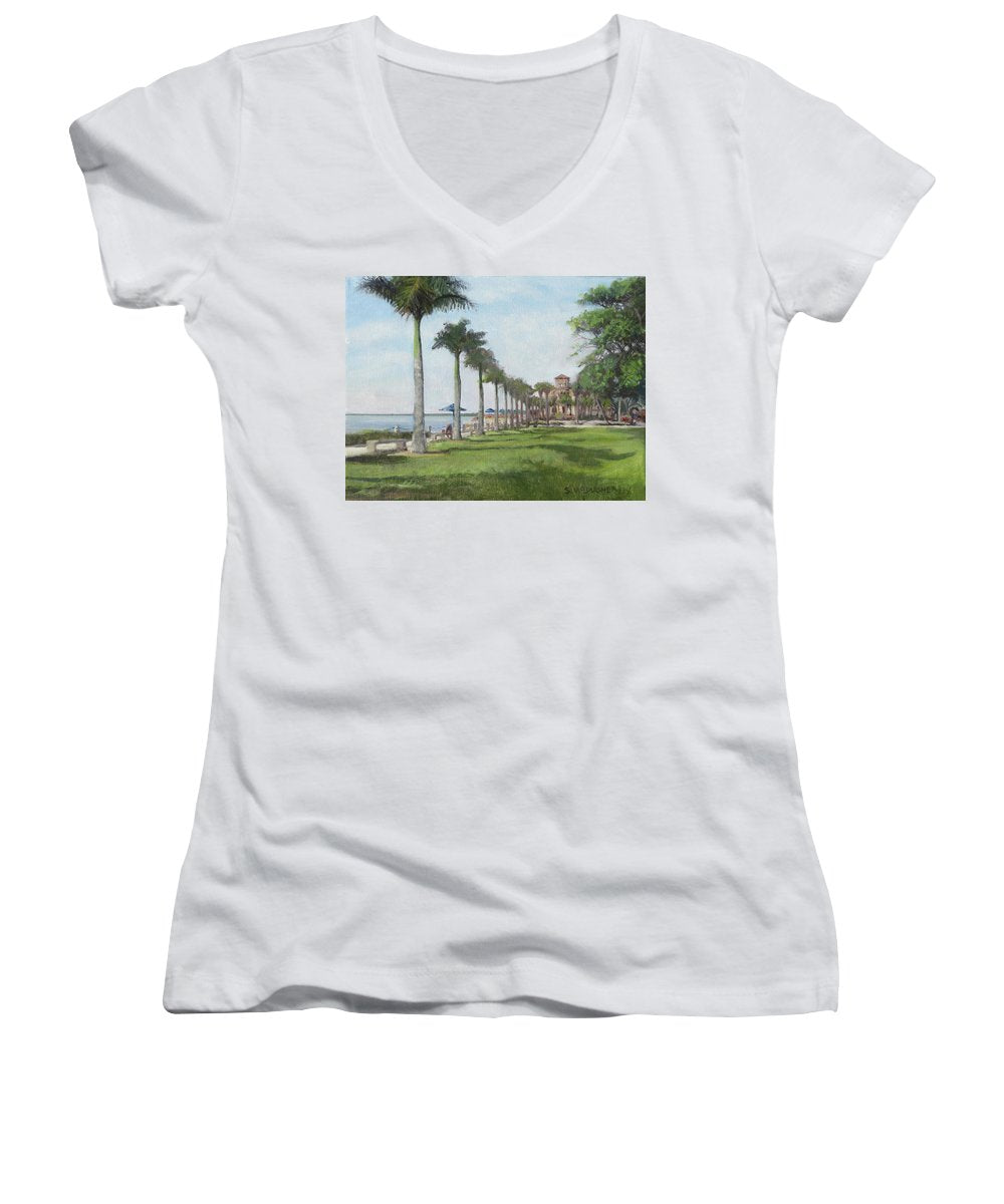 Ca'd'zan, Ringling Museum Of Art, Sarasota - Women's V-Neck (Athletic Fit)
