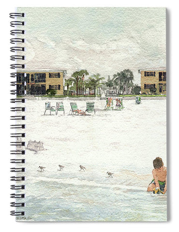 Casa Mar Condo Beachfront, Siesta Key - Spiral Notebook