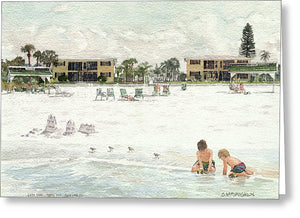 Casa Mar Condo Beachfront, Siesta Key - Greeting Card