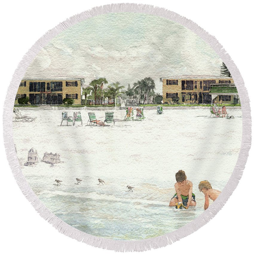Casa Mar Condo Beachfront, Siesta Key - Round Beach Towel