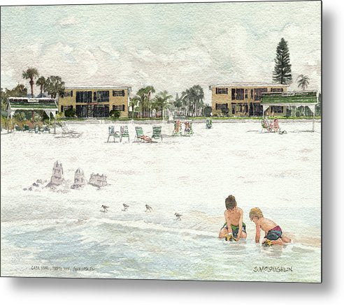 Casa Mar Condo Beachfront, Siesta Key - Metal Print