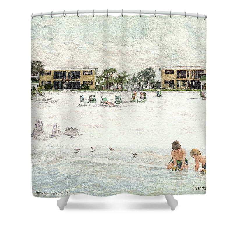 Casa Mar Condo Beachfront, Siesta Key - Shower Curtain
