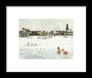 Casa Mar Condo Beachfront, Siesta Key - Framed Print
