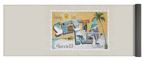 Greetings From Siesta Key - Yoga Mat