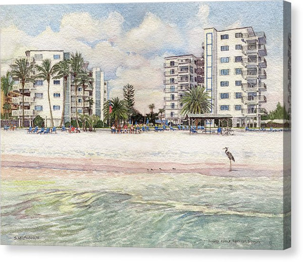Jamaica Royal Condo, Beachfront, Siesta Key - Canvas Print