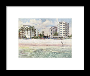 Jamaica Royal Condo, Beachfront, Siesta Key - Framed Print