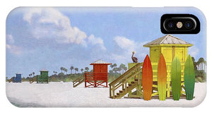 Lifeguard Stations On Siesta Key Public Beach - Phone Case