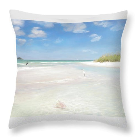 No. Siesta Key, Big Pass, So. Lido Beach - Throw Pillow