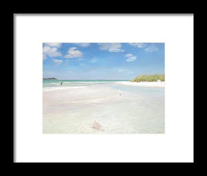 No. Siesta Key, Big Pass, So. Lido Beach - Framed Print