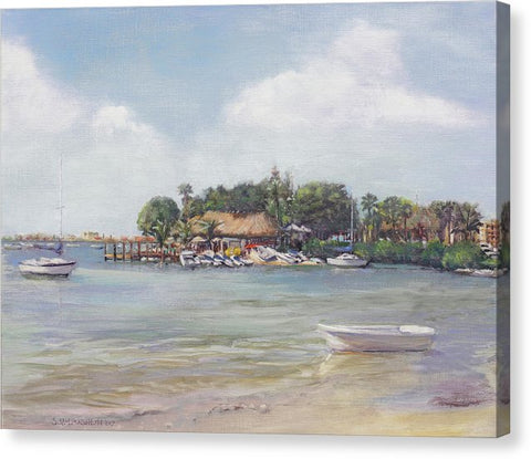 O' Leary's Tiki Bar And Grill On Sarasota Bayfront - Canvas Print
