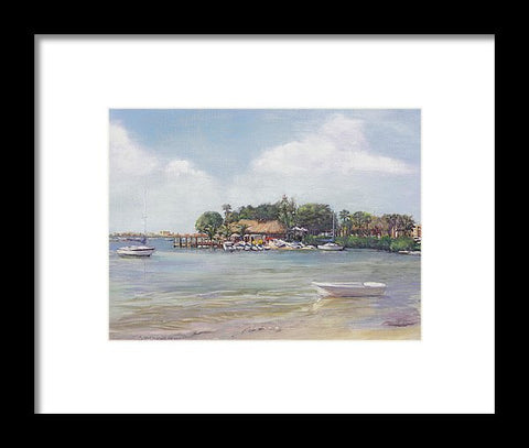 O' Leary's Tiki Bar And Grill On Sarasota Bayfront - Framed Print