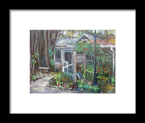 Owens Fish Camp, Burns Court, Sarasota - Framed Print