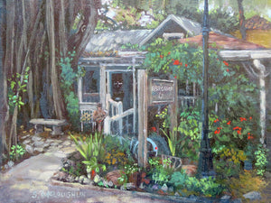 Owens Fish Camp, Burns Court, Sarasota - Art Print