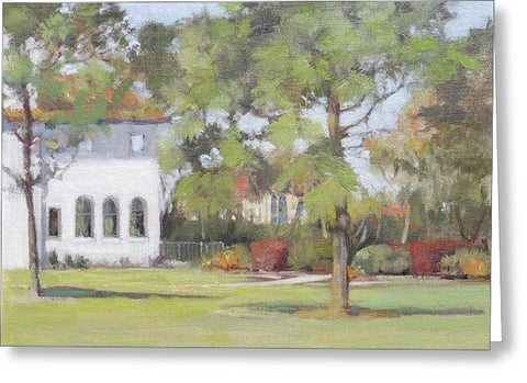 Phillippi Creek Mansion And Rose Garden - Greeting Card